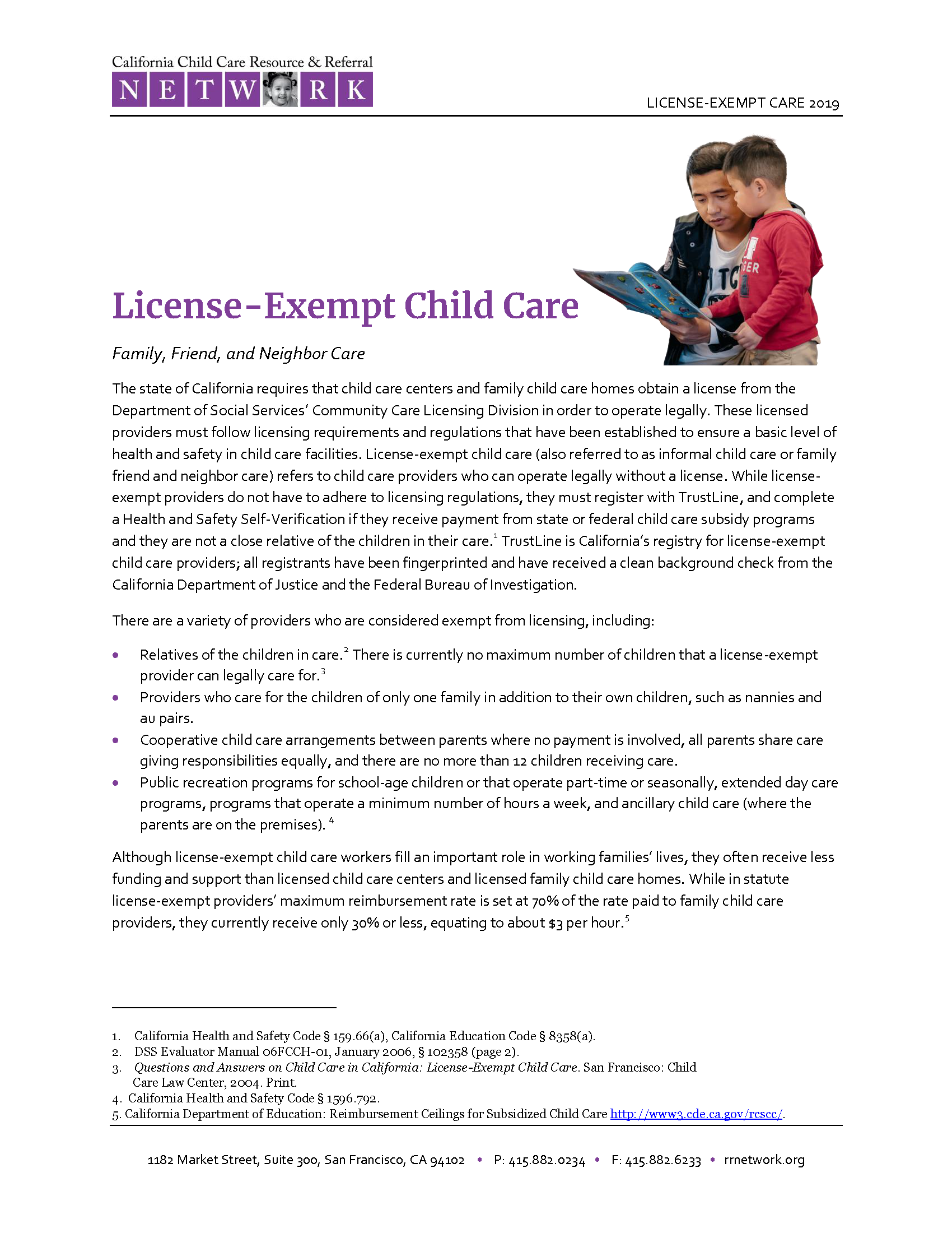 License Exempt Care