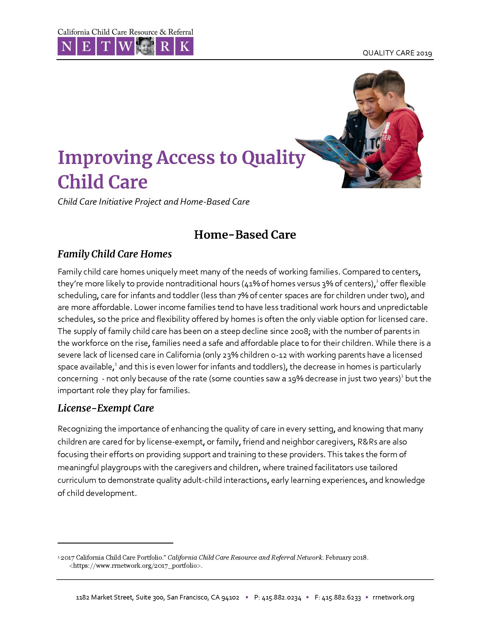 Improving Access to Quality Child Care