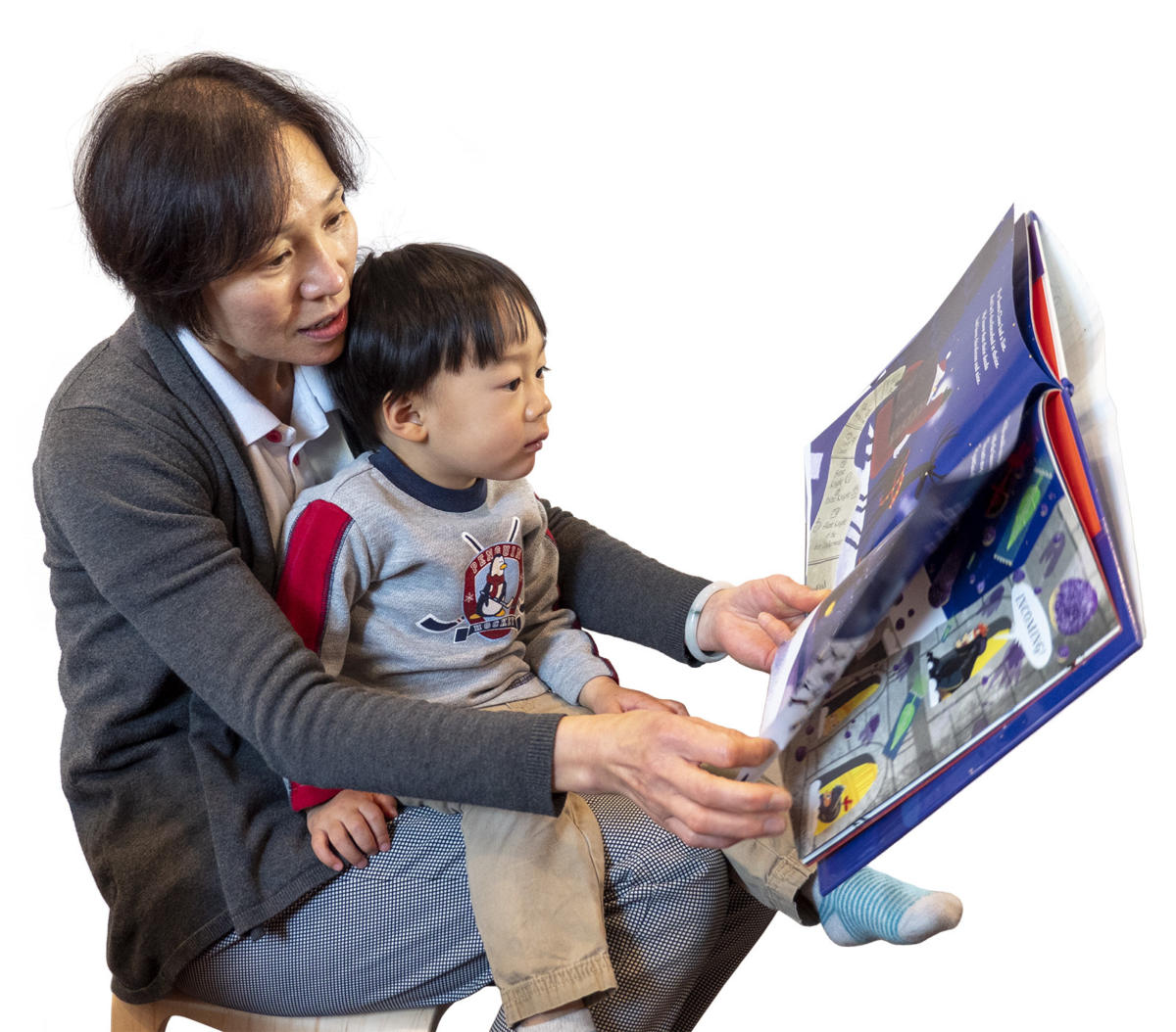 Provider reading stories child
